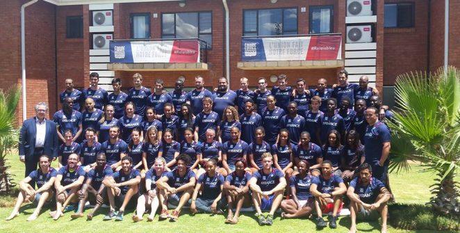 En janvier dernier l'équipe de France d'athlétisme a effectué  un stage de 15 jours à Potchefstroom en Afrique du Sud (Crédit Photo : FFA)