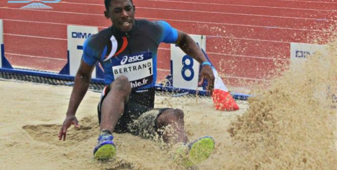 Grâce à son tout premier bond mesuré à 8,08 m, Jean-Pierre Bertrand a réalisé les minima pour les championnats d'Europe en salle.