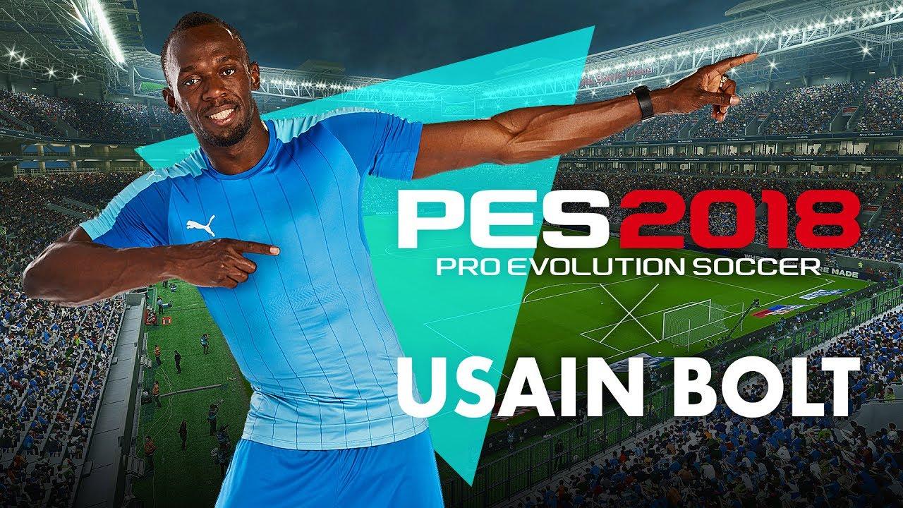Usain Bolt devient ambassadeur de PES 2018