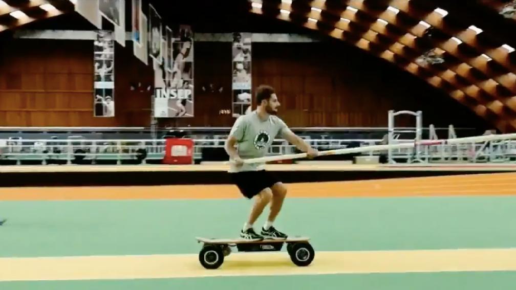 Quand le skate tend la perche à Baptiste Boirie