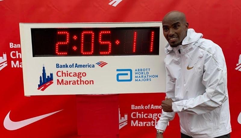 Record d'Europe du marathon pour Mo Farah à Chicago