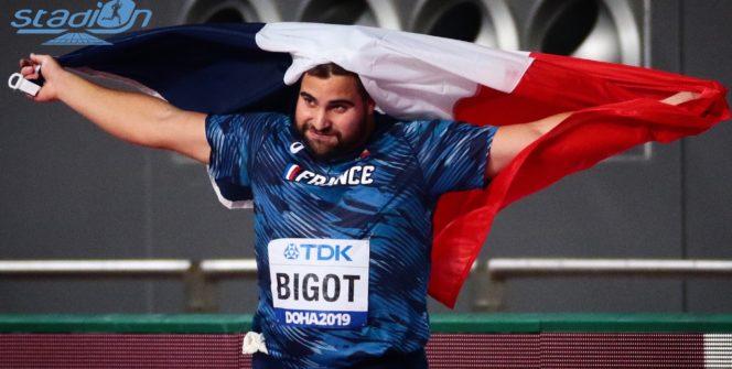 Quentin Bigot a décroché la première médaille de la France aux Championnats du Monde de Doha (Qatar) en remportant l'argent au marteau au terme d'un concours plein de maîtrise.