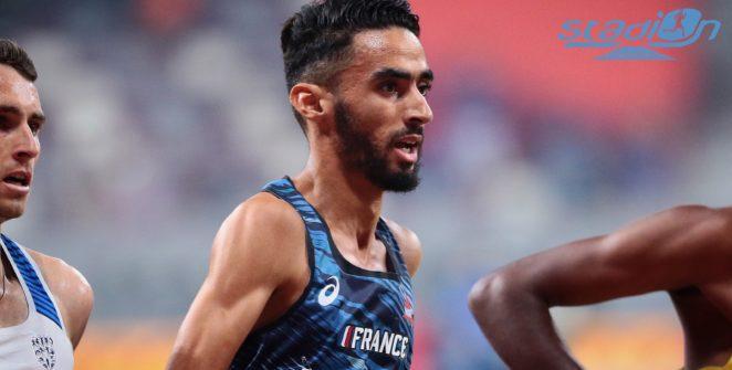 Djilali Bedrani en finale du 3000 m steeple à Doha