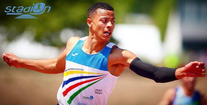 Sasha Zhoya a rendez-vous au Stadium Miramas Métropole à l'occasion des Championnats de France cadets et juniors en salle.