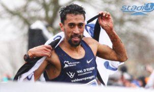 Le champion d'Europe du 10 000 m Morhad Amdouni s'est classé deuxième du cross Ouest-France ce dimanche derrière le Kényan Kenneth Kiprop.