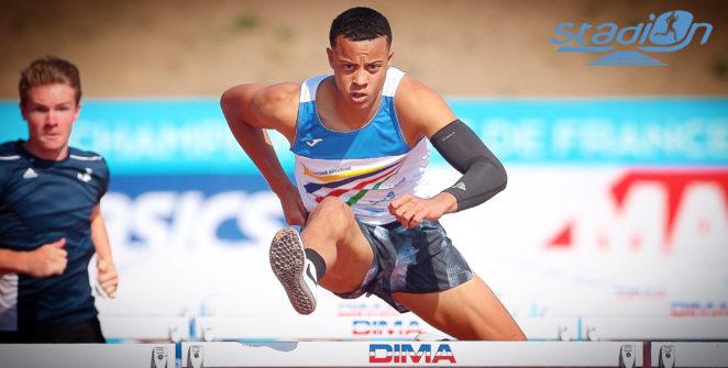 """Pour sa rentrée, Sasha Zhoya a signé un chrono canon de 7""""57 sur 60 m haies lors des Championnats régionaux d'Île-de-France."""
