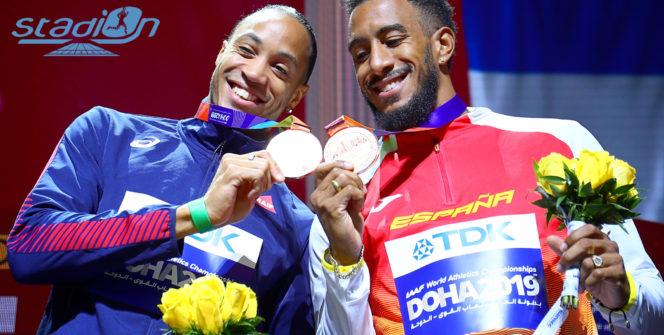 Dans leur duel sur 60 m haies, Orlando Ortega a devancé Pascal Martinot-Lagarde au Meeting Elite de l'Eure de Val-de-Reuil