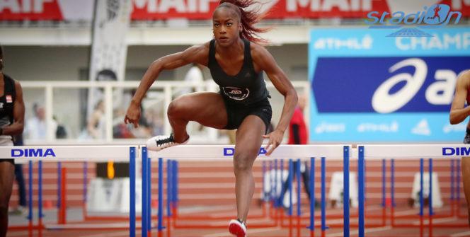"""Cyréna Samba-Mayela a crevé l'écran sur 60 m haies en s'imposant chez les espoirs en 7""""98. Elle aura demain l'occasion de s'offrir un doublé, en s'alignant sur 60 m."""