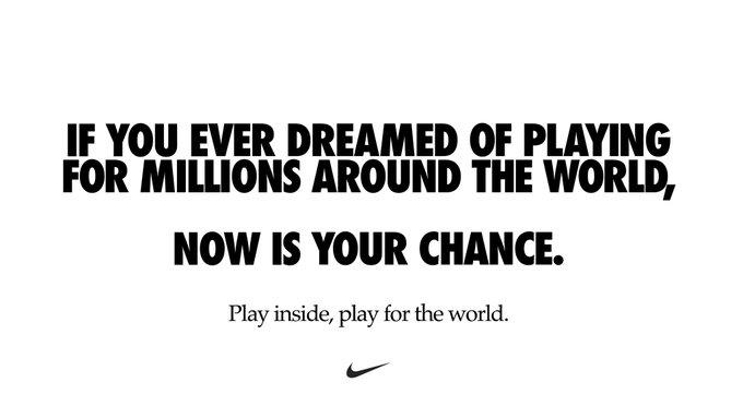 Le message de Nike pour lutter contre le coronavirus