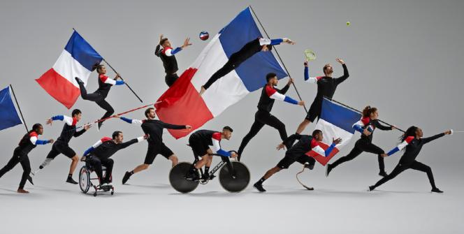 Le comité d'organisation Paris 2024 a choisi le Coq Sportif, marque française, pour habiller les équipes de France olympique et paralympique pour les JOP 2024 à Paris.