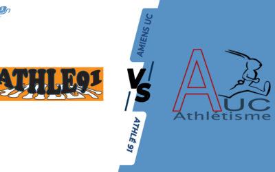 Interclubs virtuels – 8ème de finale : Athlé 91 – Amiens UC