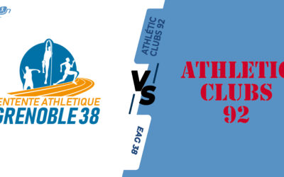 Interclubs virtuels – 8ème de finale : EA Grenoble 38 – Athlétic Clubs 92