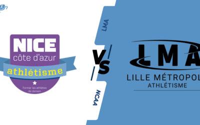 Interclubs virtuels – 8ème de finale : Nice Côte d'Azur Athlétisme – Lille Métropole Athlétisme