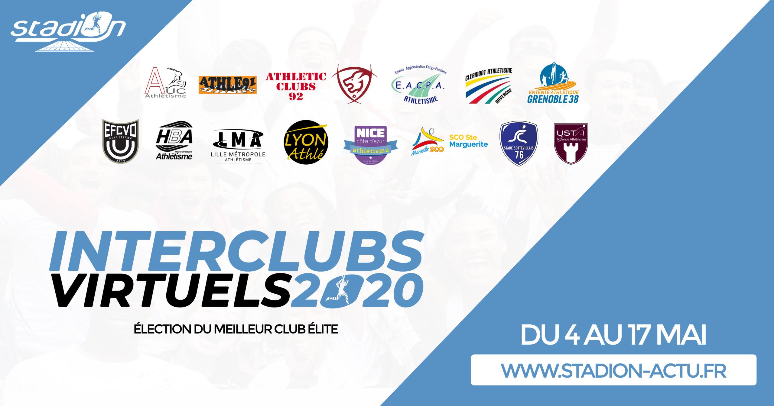 Stadion vous propose un jeu unique et ludique : les Interclubs virtuels, l'élection du meilleur club Elite par les internautes du 3 au 17 mai.