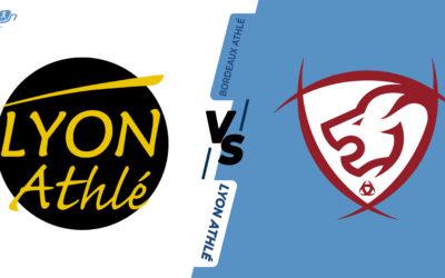 Interclubs virtuels – 8ème de finale : Lyon Athlétisme – Bordeaux Athlé
