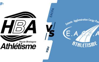 Interclubs virtuels – 1/2 finale : Haute Bretagne Athlétisme – EA Cergy-Pontoise