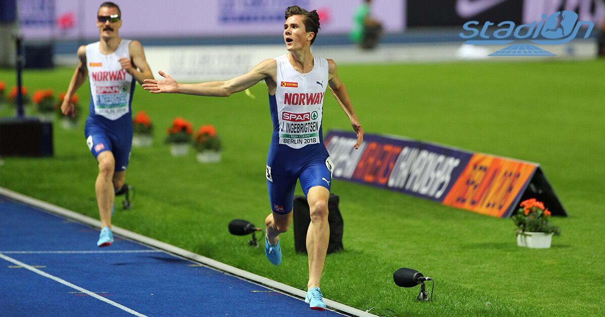 Et revoilà un peu d'athlétisme ! Le prodige norvégien Jakob Ingebrigtsen a amélioré hier soir le record national du 5 km route en 13'29 à Stavanger.
