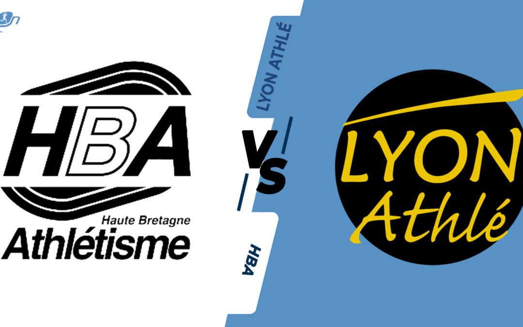 Interclubs virtuels – 1/4 de finale : Haute Bretagne Athlétisme – Lyon Athlétisme
