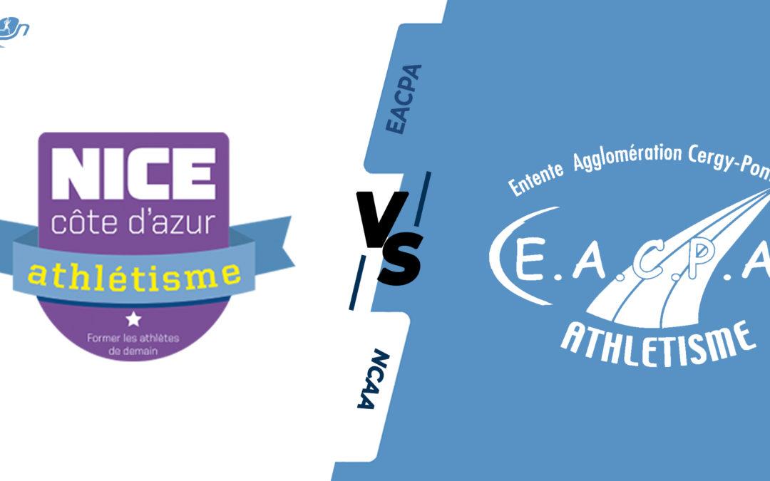 Interclubs virtuels – 1/4 de finale : Nice Côte d'Azur Athlétisme – EA Cergy-Pontoise