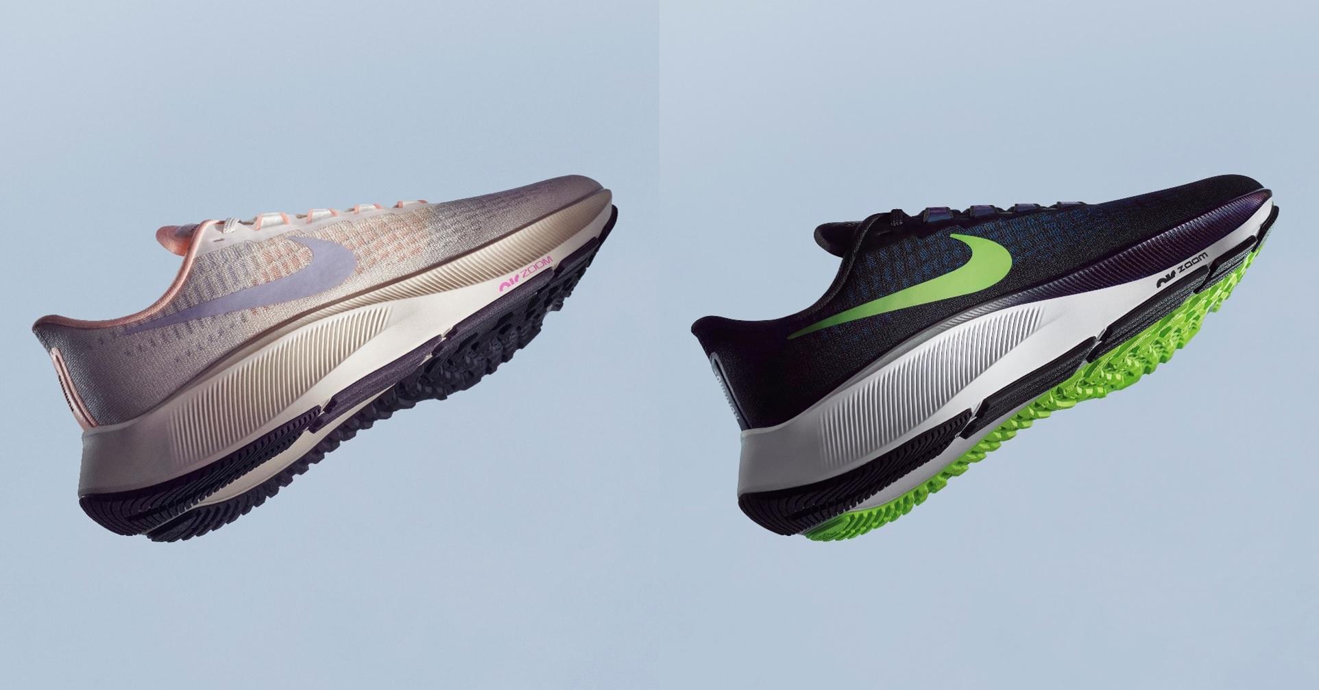 """Présentée en 1983 comme """"la chaussure de tous les coureurs"""", la Nike Pegasus s'est forgée une réputation dans le milieu du running en tant que chaussure d'entraînement fiable et digne de confiance."""