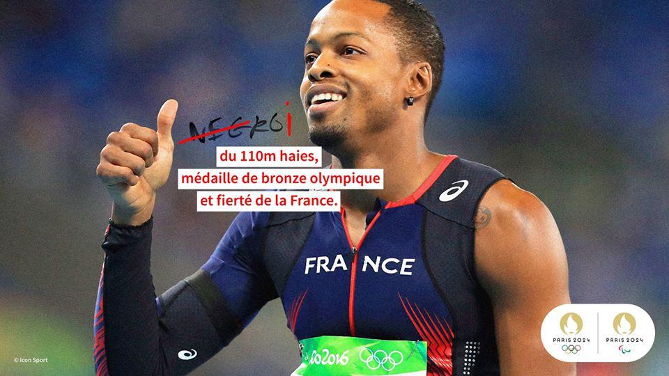 Dimanche 28 juin, des inscriptions racistes ont été découvertes sur trois photos de sportifs français qui ornent la clôture entourant l'INSEP de Paris (Vincennes).