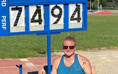 Athlétisme : Rentrée record pour Alexandra Tavernier !