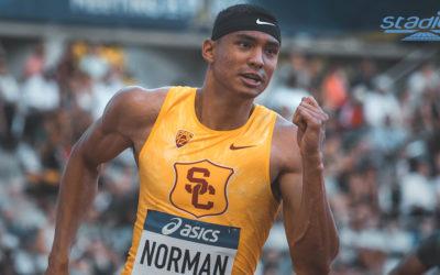Michael Norman claque 9″86 sur 100 m et intègre un club très fermé