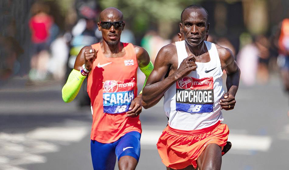 Àl'occasion du marathon de Londres, Eliud Kipchoge et Kenenisa Bekele pourront bénéficier d'un lièvre exceptionnel en la personne de Mo Farah.