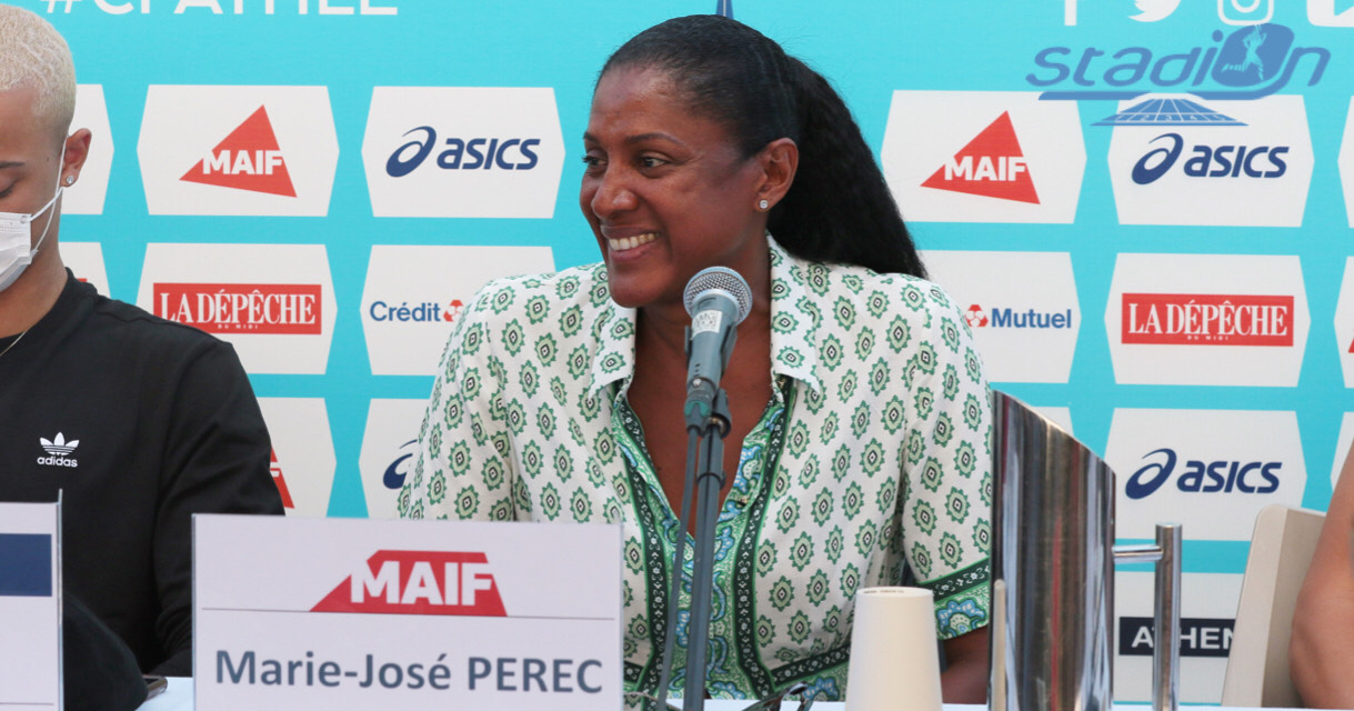 Très discrète dans les médias, Marie-José Pérec était présente à la conférence de presse des Championnats de France Elite à Albi ce vendredi. La triple championne olympique était émue au moment d'évoquer ses souvenirs, elle qui a fait rêver toute une génération.