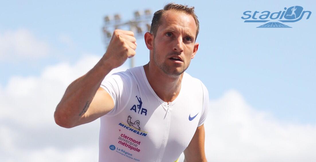 Renaud Lavillenie effectue sa rentrée 2021 samedi au Starperche de Bordeaux. Stadion vous offre la possibilité de vous glisser dans la peau d'un journaliste face au champion olympique de Londres.
