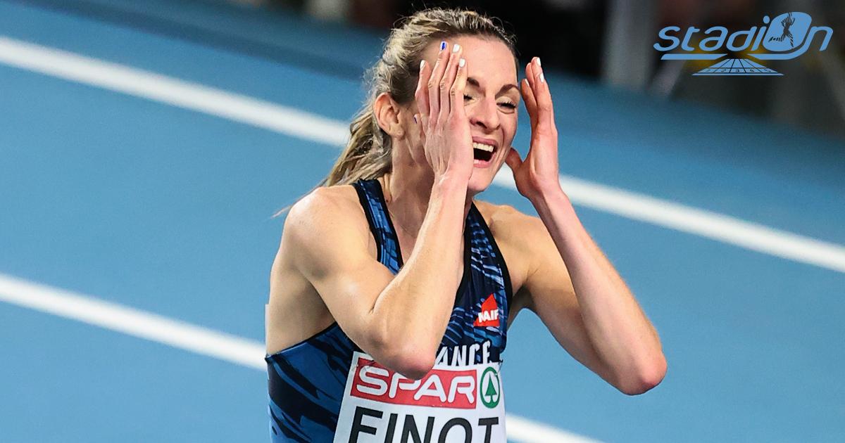 """Pour son premier grand championnat international, Alice Finot a ouvert le compteur de médailles pour la France ce vendredi en décrochant une magnifique médaille d'argent sur 3000 m en 8'46""""54."""