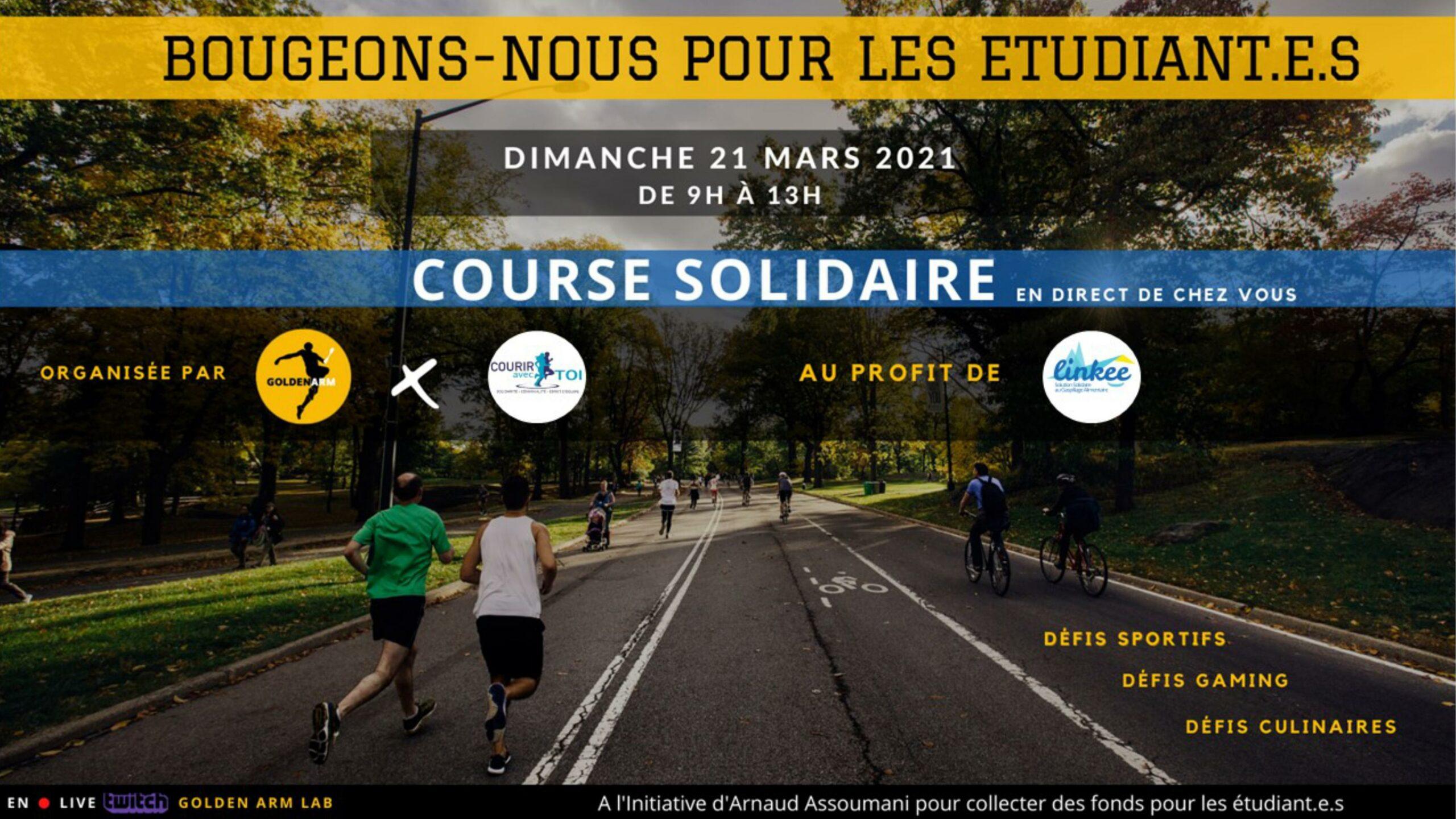Ce dimanche 21 mars, Arnaud Assoumani appelle à la mobilisation avec son évènement «Bougeons-nous pour les étudiant.e.s».