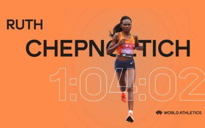 Record du monde du semi-marathon pour Ruth Chepngetich en 1h04'02