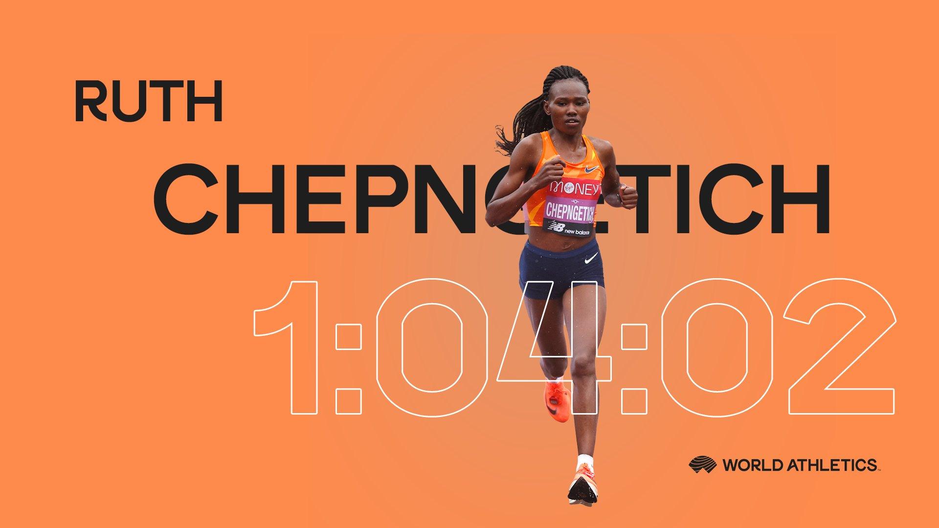 Ce dimanche, à Istanbul (Turquie), la Kényane Ruth Chepngetich a retranché 29 secondes au record du monde du semi-marathon en 1h04'02.