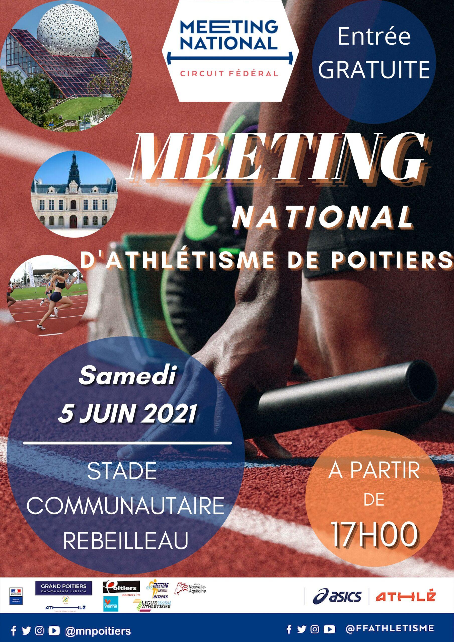 Meeting National d'Athlétisme de Poitiers 2021