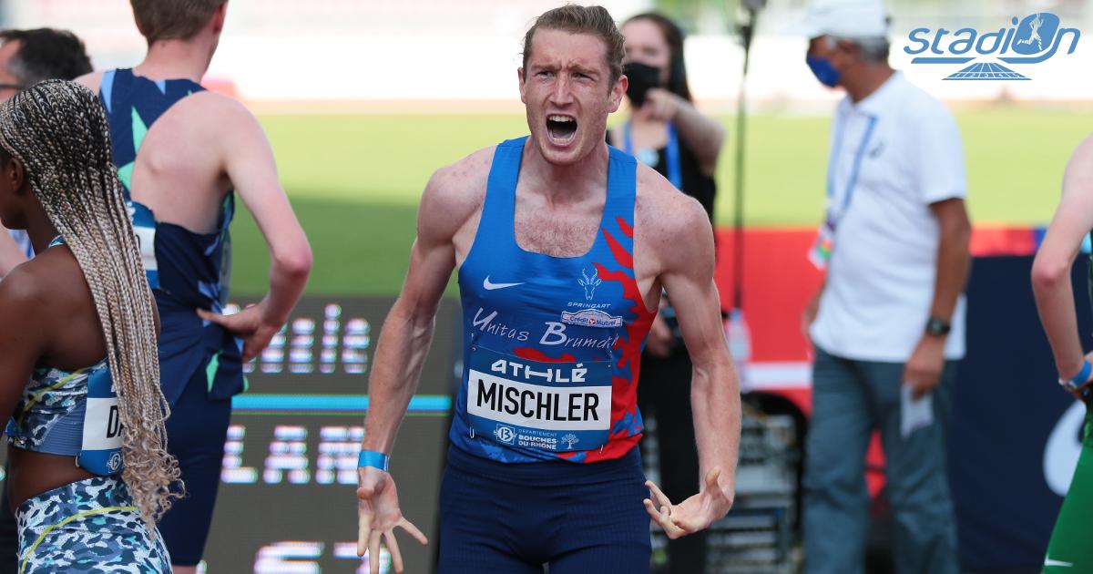 """Au Meeting de Marseille mercredi soir, Jimmy Vicaut a remporté le 100 m en 10""""36 avec un vent défavorable, alors que Baptiste Mischer, Azeddine Habz, sur 1500 m, et Benjamin Robert, sur 800 m, ont réalisé les minima olympiques."""