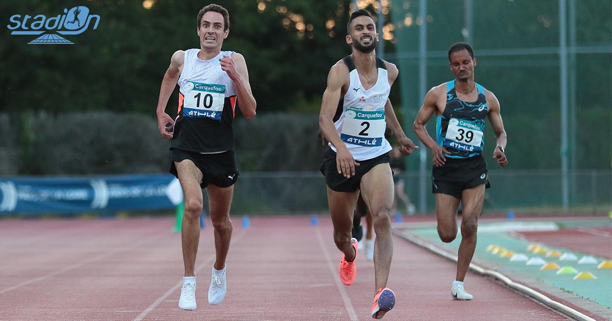 """Ce vendredi au Meeting de Carquefou, plusieurs demi-fondeurs français ont enquillé les records personnels à l'image d'Emmanuel Roudolff-Lévisse sur 5000 m en 13'40""""83."""