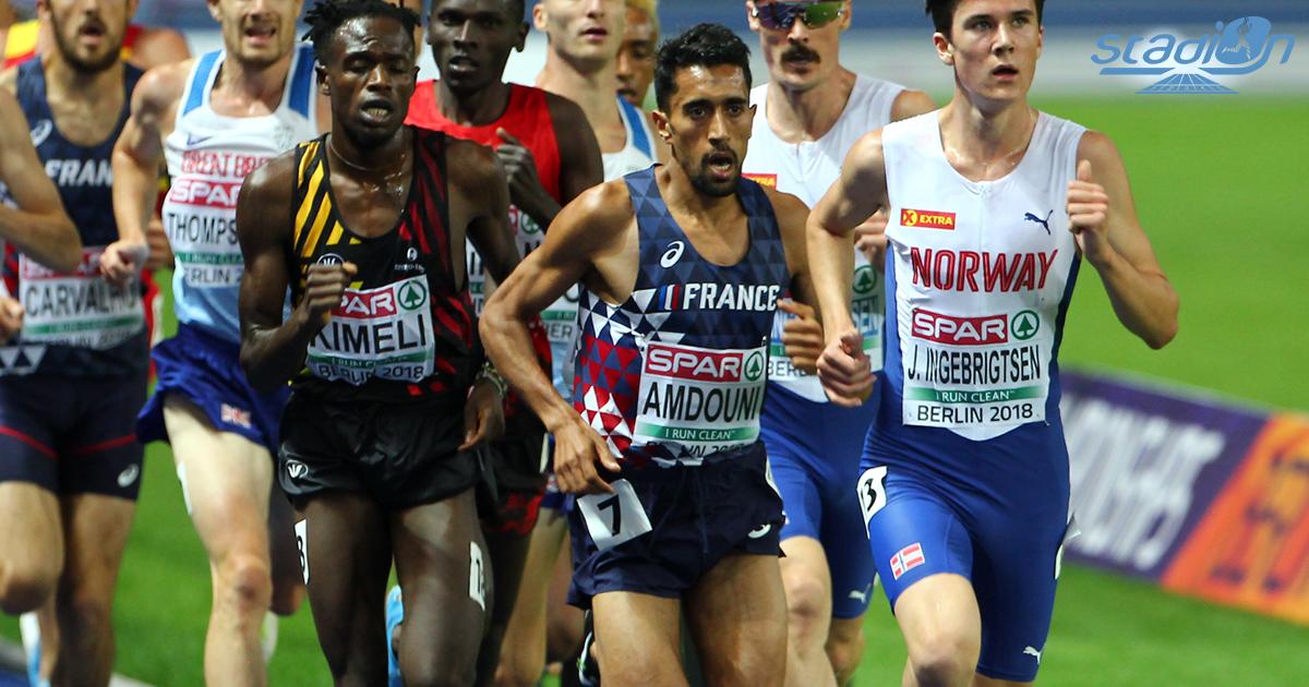 Morhad Amdouni a remporté au sprint la Coupe d'Europe du 10 000 m en 27'23''39 à Birmingham. Déjà qualifié pour les Jeux olympiques sur marathon, le demi-fondeur français s'ouvre la porte pour tenter de doubler le 10 000 m et le marathon à Tokyo cet été.