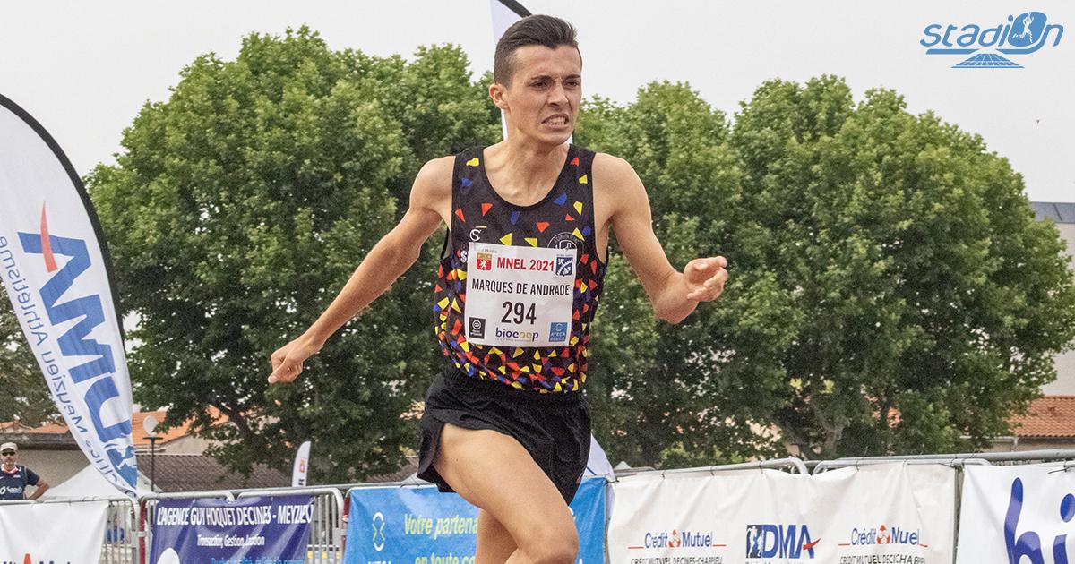 """Thomas Marques de Andrade a battu le record de France cadets du 800 m en 1'48""""53 lors du Meeting National de l'Est Lyonnais samedi soir, après s'être emparé du meilleur chrono national en salle cet hiver."""