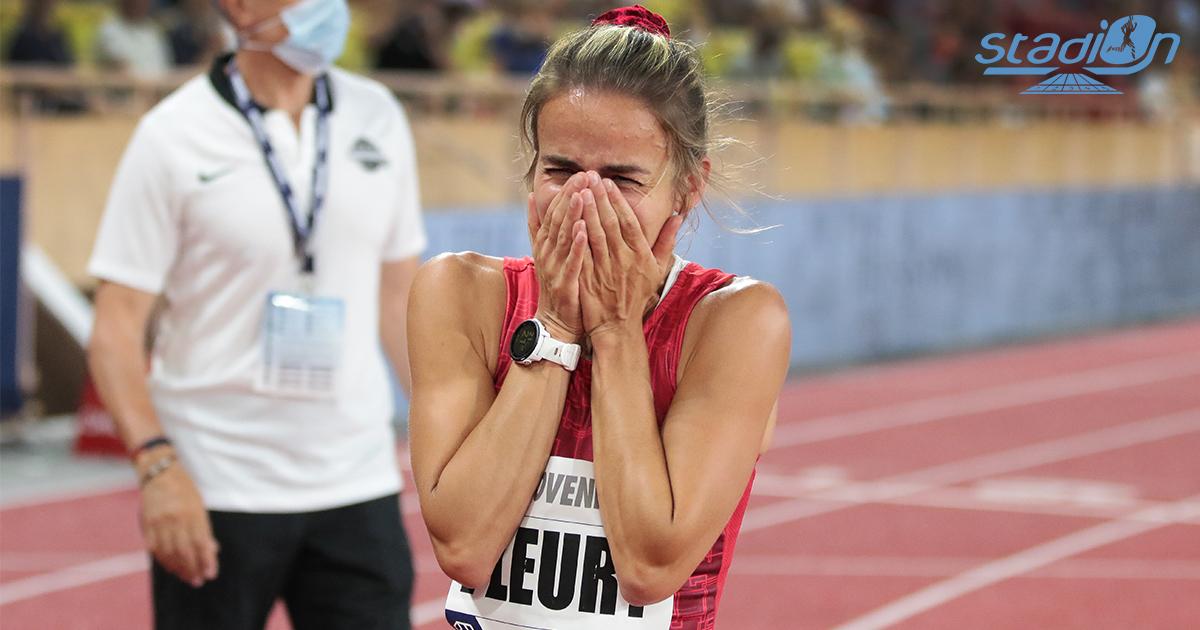 """Aurore Fleury a brisé en mille morceaux son record personnel sur 1500 m en 4'03""""35 au Meeting Herculis de Monaco ce vendredi 9 juillet."""