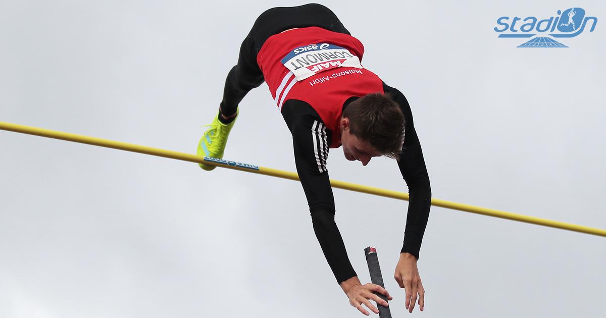 Ethan Cormont (perche) et Flavie Renouard (3000 m steeple) ont décroché le titre continental aux Championnats d'Europe espoirs de Tallinn.