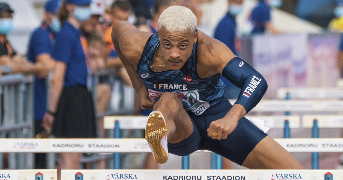 """Performance supersonique de Sasha Zhoya en demi-finales des Mondiaux juniors de Nairobi (Kenya) qui a fracassé le record du monde de sa catégorie sur 110 m haies dans le chrono de 12""""93 (-0,4 m/s)."""