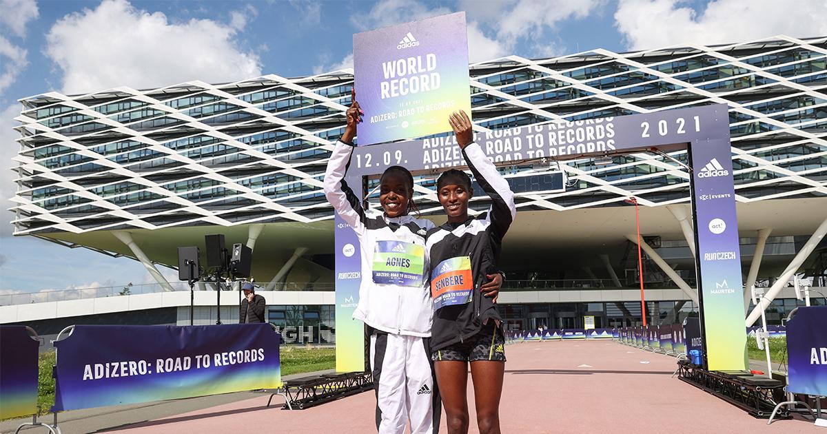 Lors du ROAD TO RECORDS d'adidas, les records du monde du 10 km par Agnes Tirop et du 5 km par Senbere Teferi sont tombés à Herzogenaurach.