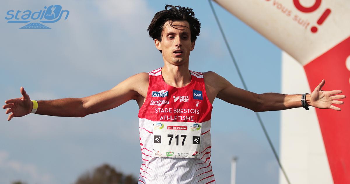 Arsène Guillorel était au-dessus du lot et a signé un beau chrono de 29'30, en renversant au passage le record de l'épreuve, lors des 10 km de la « Leclerc Gouesnou » ce dimanche.